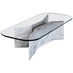 Filo Coffee Table with Versilys Marble Base