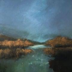 Marsh Sunset, Painting, Acrylic on Canvas