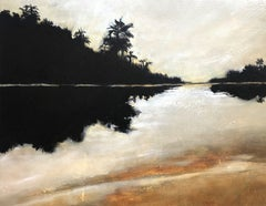Peaceful Oasis, Painting, Acrylic on Canvas