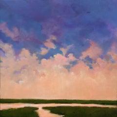 Sunset Marsh, Painting, Acrylic on Canvas