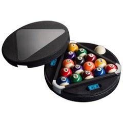 Filotto Pool/ Billiard Game Set, Contemporary Design Accessory by Impatia