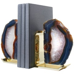 Fim Bookends in Agate Brass by Anna Rabinowitz