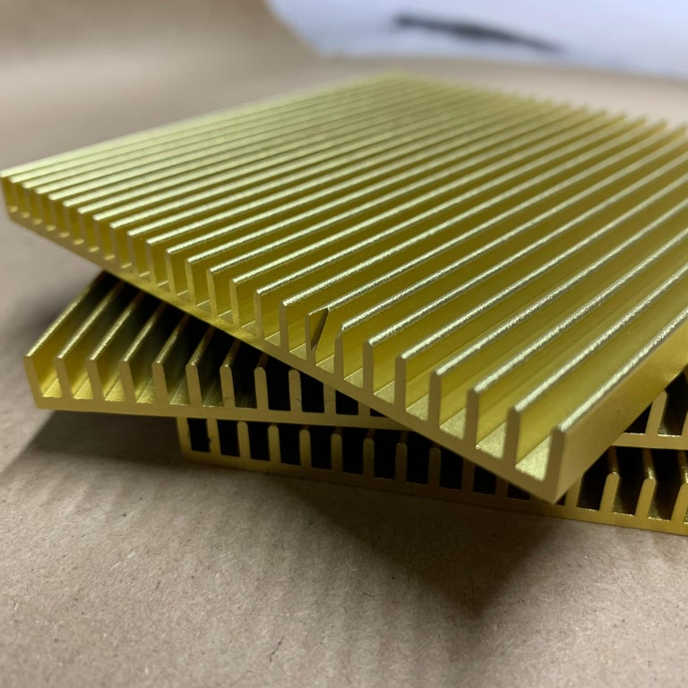 Modern Fin Coasters from Souda, Factory 2nds, Set of Four, Gold For Sale