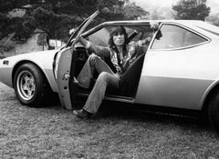 Cozy Powell of Rainbow in Car Vintage Original Photograph