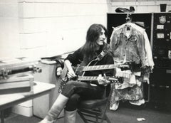 Geddy Lee of Rush Backstage Vintage Original Photograph