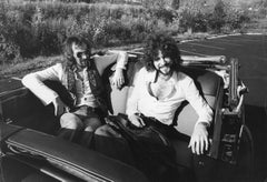 John McVie and Bob Welch of Feetwood Mac in Backseat Vintage Original Photograph