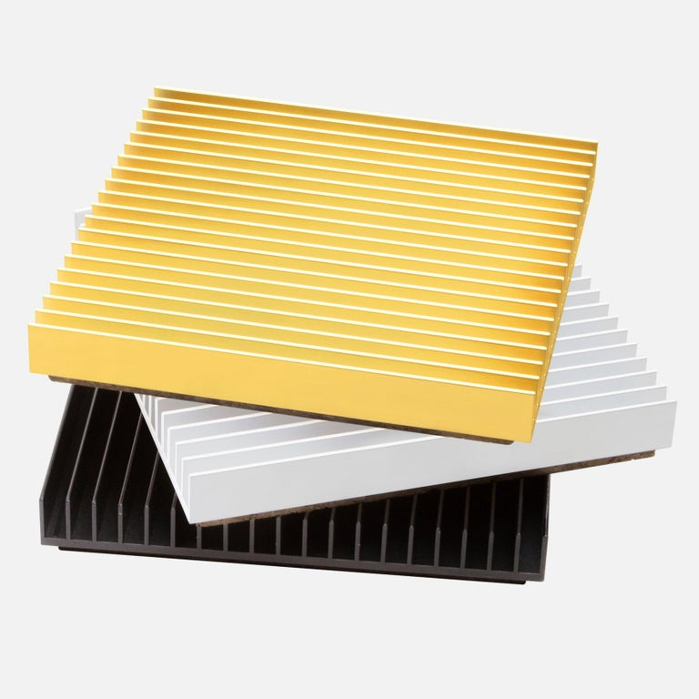 Anodized Fin Trivets from Souda, Silver, in Stock For Sale