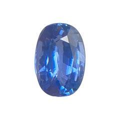 Fine 1.06 Carat Ceylon Vivid Blue Sapphire Oval Cut Sri Lanka Loose Gem