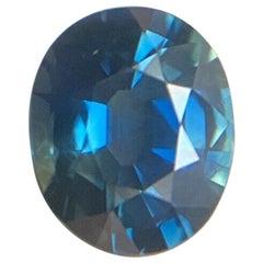 Fine 1.18 Carat Sapphire Deep Blue Oval Cut Loose Gem
