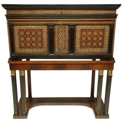 Fine 17th Century Spanish Vargueno Chest on Stand in the Moorish Taste