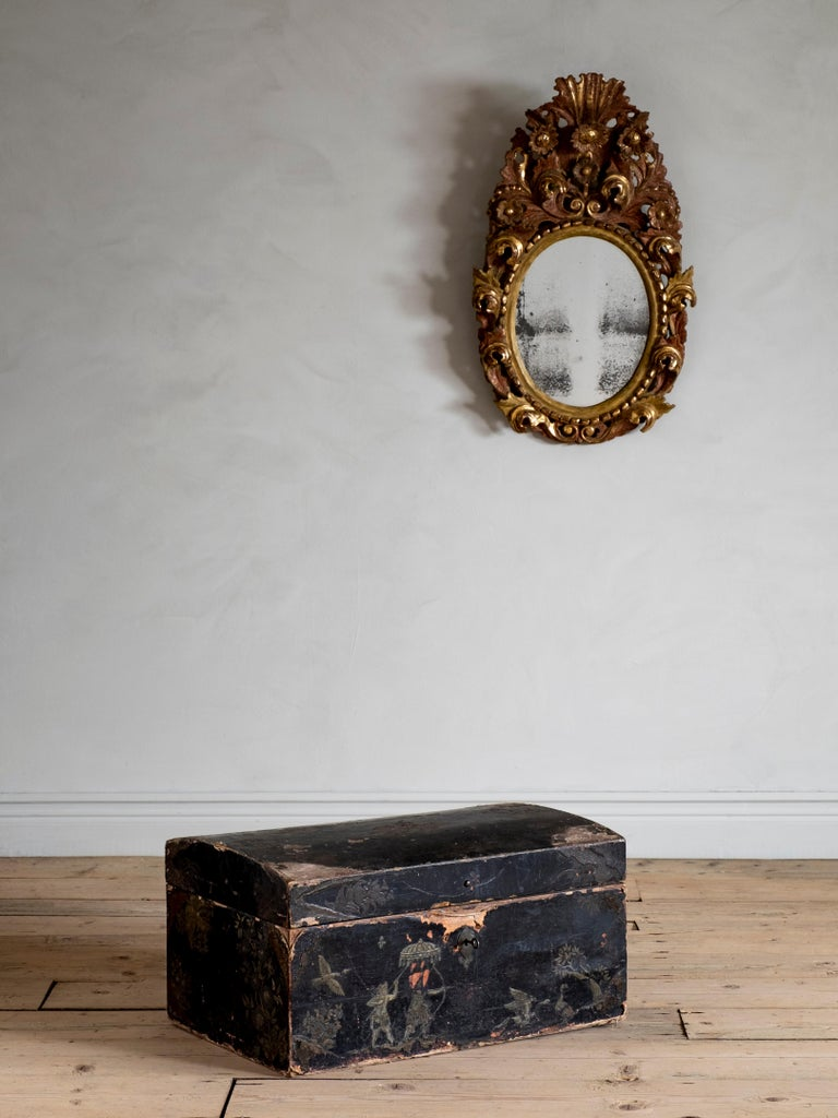 Swedish Fine 18th Century Baroque Chinoiserie Chest For Sale
