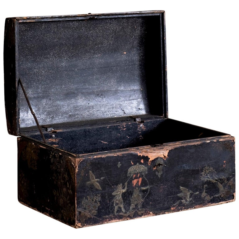 Fine 18th Century Baroque Chinoiserie Chest For Sale