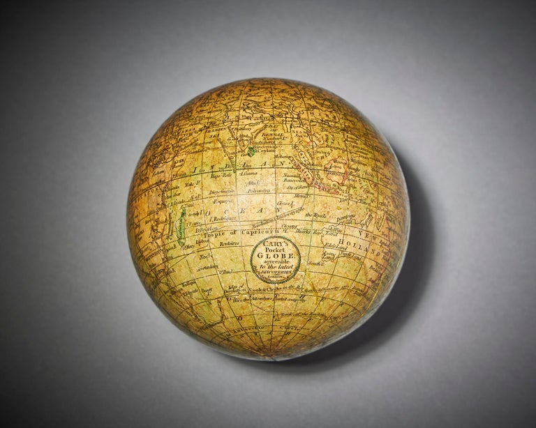 George III Fine 18th Century English Terrestrial Pocket Globe by Cary, London, 1791 For Sale