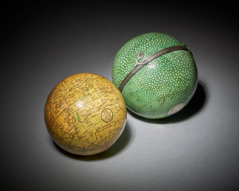 British Fine 18th Century English Terrestrial Pocket Globe by Cary, London, 1791 For Sale