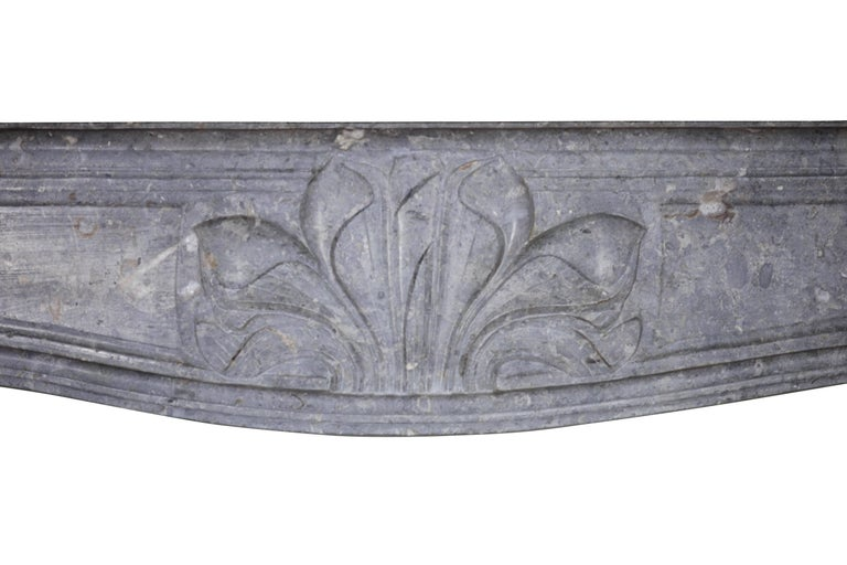 Fine 18th Century French Antique Fireplace Surround in Bicolor Burgundy Stone For Sale 1