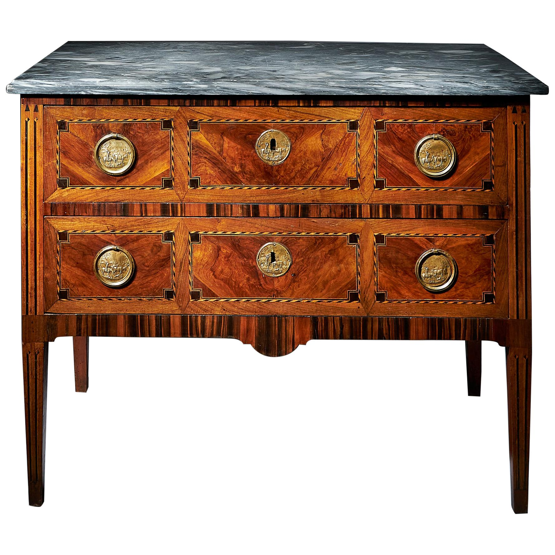 Fine 18th Century Italian Parquetry Commode