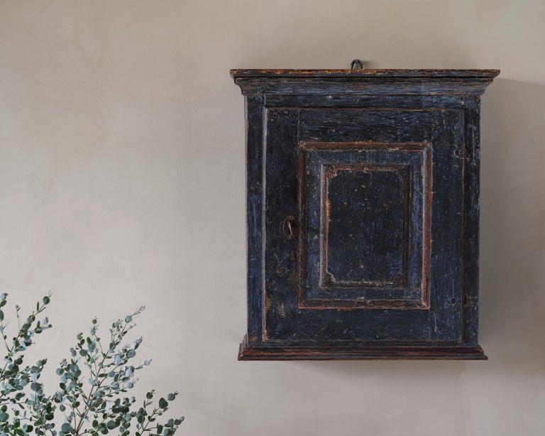 European Fine 18th Century Provincial Gustavian Wall Cabinet For Sale