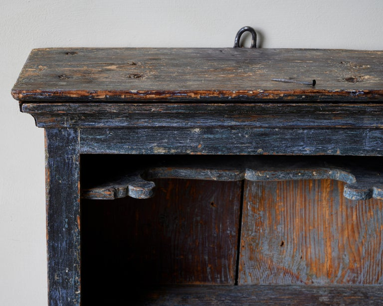 Fine 18th Century Provincial Gustavian Wall Cabinet For Sale 1