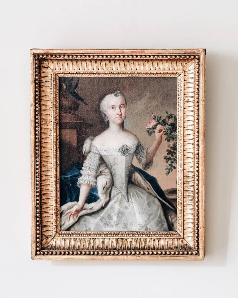 Baroque Fine 18th Century Royal Portrait For Sale