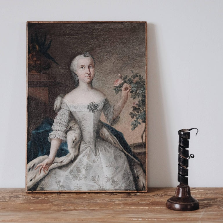 Fine 18th Century Royal Portrait In Good Condition For Sale In Helsingborg, SE