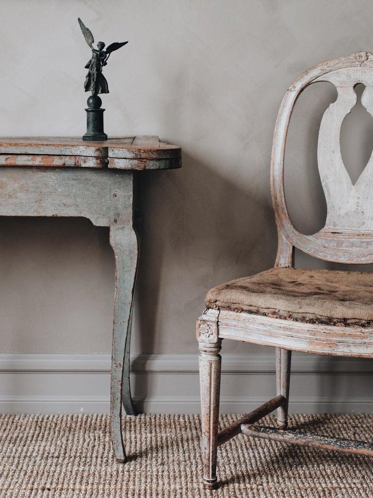 Wood Fine 18th Century Swedish Rococo Table For Sale