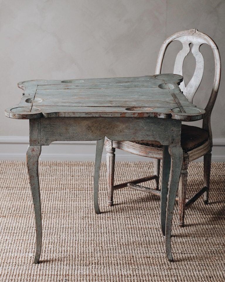 Fine 18th Century Swedish Rococo Table For Sale 1