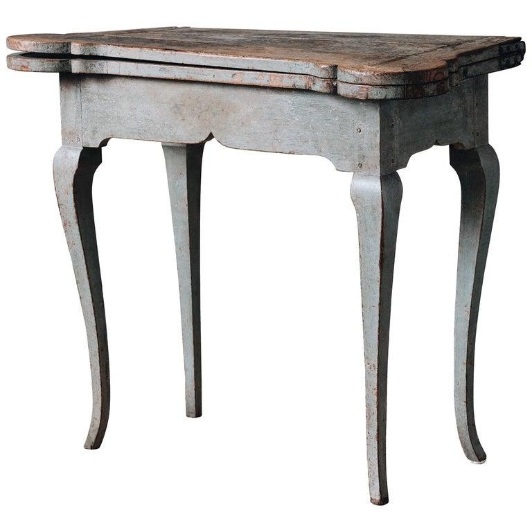 Fine 18th Century Swedish Rococo Table For Sale