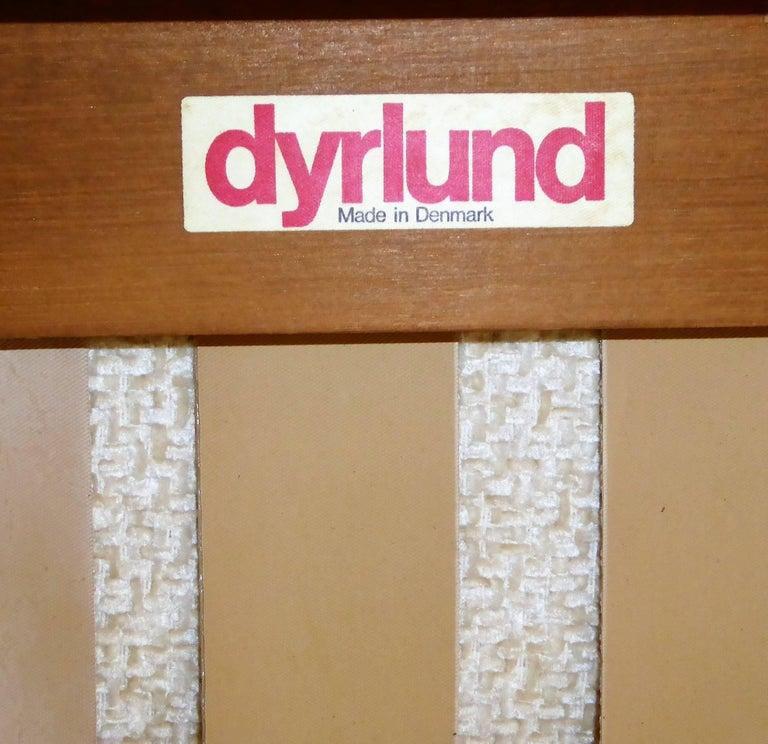 Fine 1960s Dyrlund Teak Lounge Armchair Denmark with Chenille Cushions For Sale 8