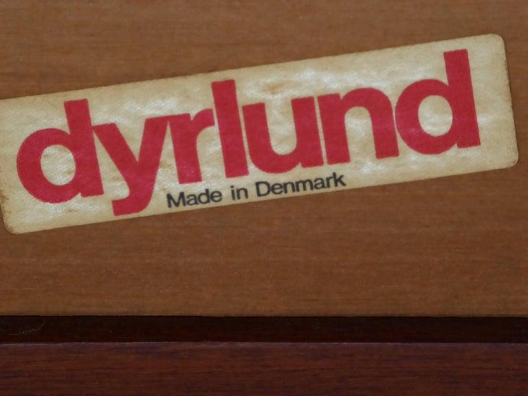 Fine 1960s Dyrlund Teak Sofa Denmark with Chenille Cushions For Sale 7
