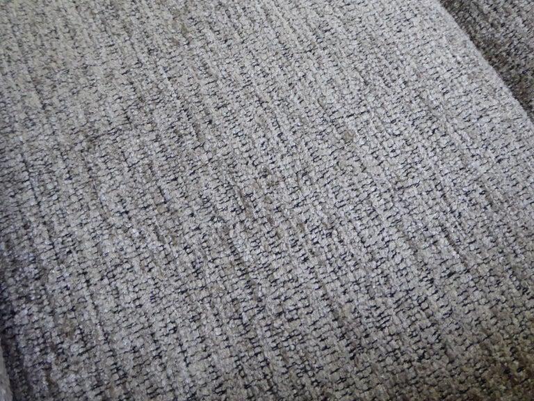 Fine 1960s Dyrlund Teak Sofa Denmark with Chenille Cushions For Sale 9