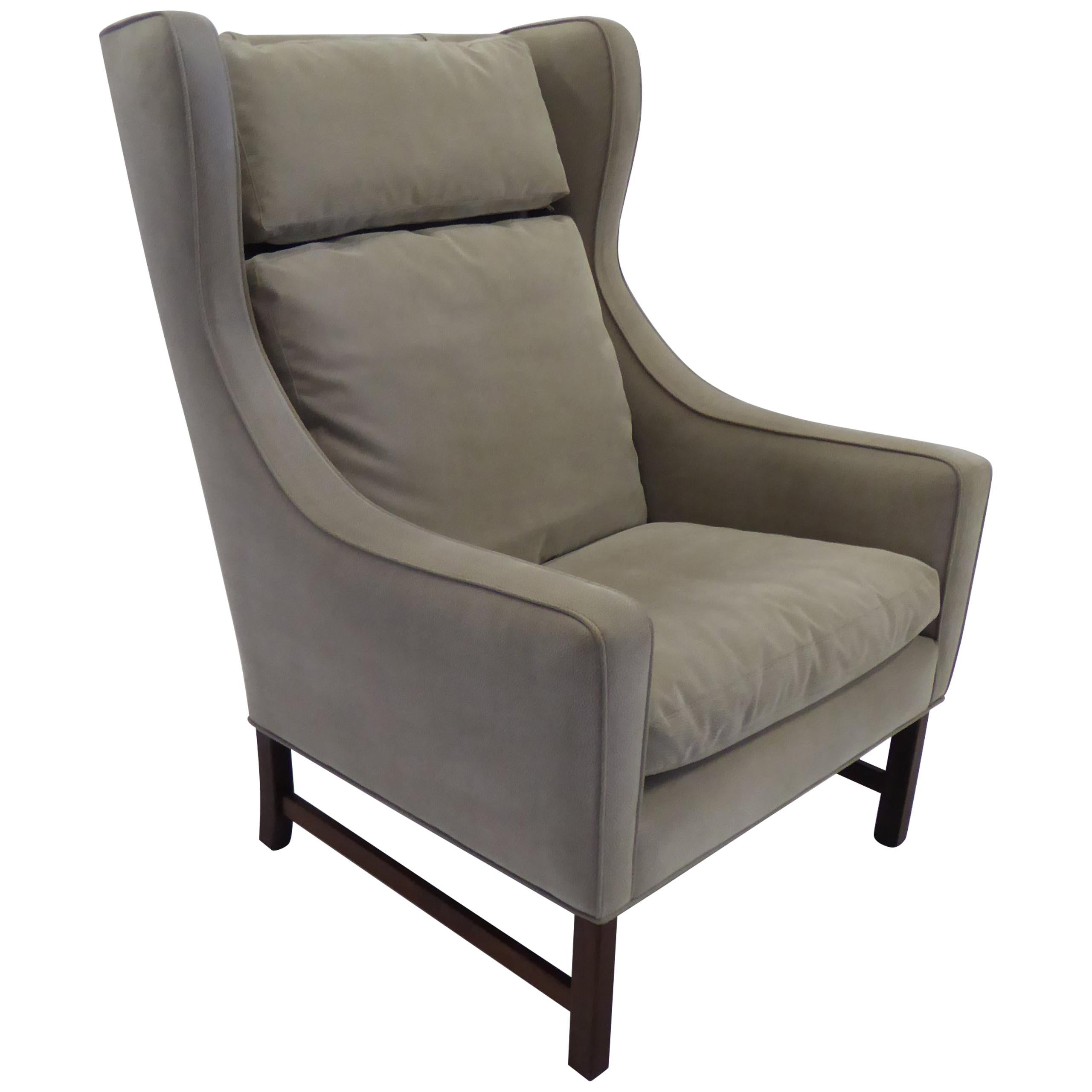 Fine 1960s Fredrik Kayser Wingback Chair for Vatne Møbler