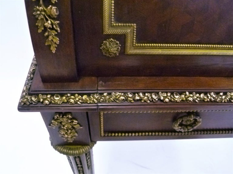 Fine 19th Century François Linke Bronze Mounted Bureau a Cylindre Roll Top Desk For Sale 7