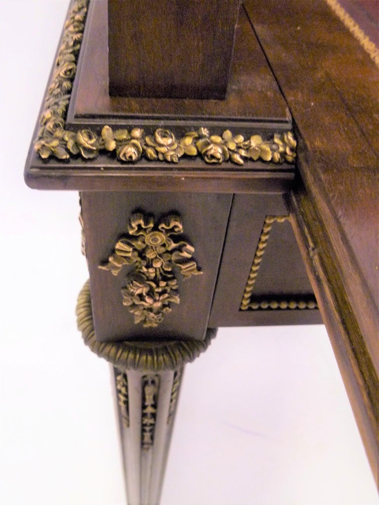 Fine 19th Century François Linke Bronze Mounted Bureau a Cylindre Roll Top Desk For Sale 9