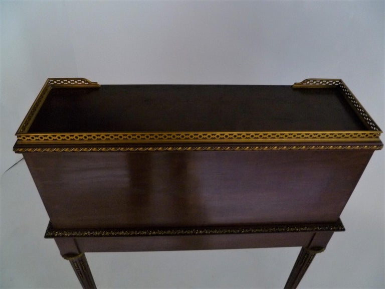 Fine 19th Century François Linke Bronze Mounted Bureau a Cylindre Roll Top Desk For Sale 1