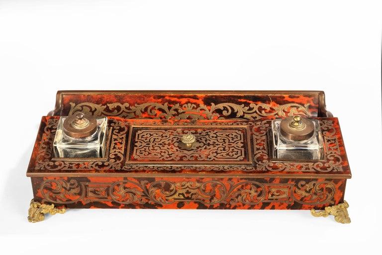 English Fine 19th Century Boulle Desk Set