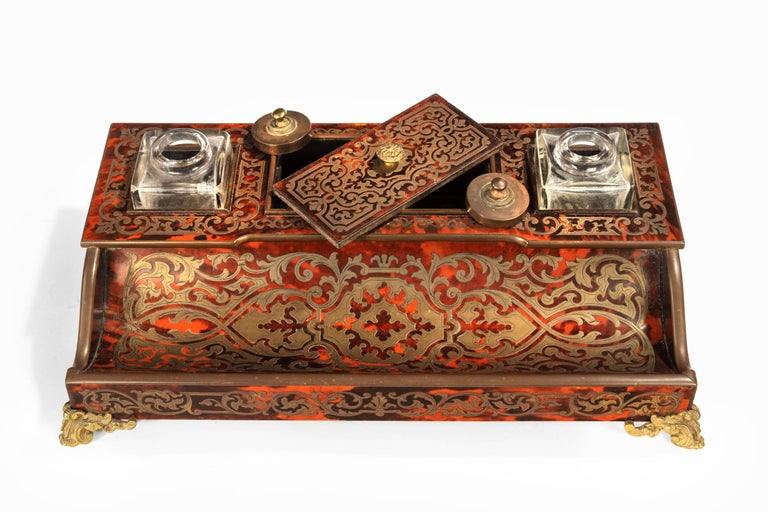Fine 19th Century Boulle Desk Set In Good Condition In Peterborough, Northamptonshire