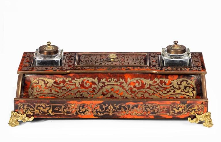 Fine 19th Century Boulle Desk Set 1