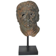 19th Century Bronze Head after Greek Antiquities