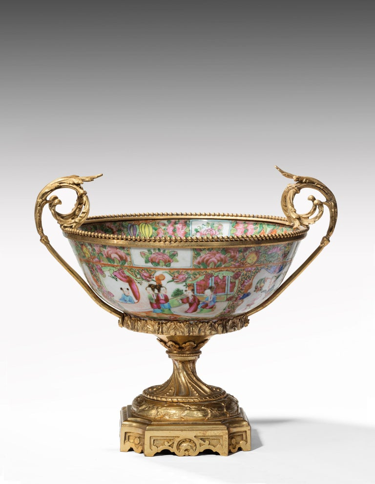 Fine 19th Century Chinese Gilt Mounted Canton Centrepiece For Sale 2