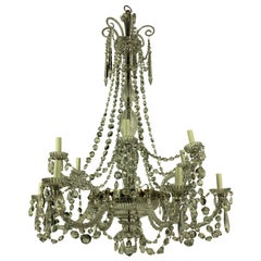 Fine 19th Century English Cut-Glass Chandelier by Perry & Co.