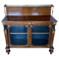 Fine 19th Century English Regency Bronze Mounted Rosewood Chiffonier