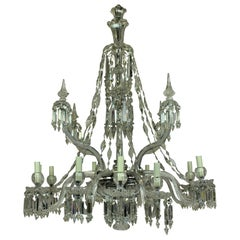 Fine 19th Century F & C Osler Cut Glass Chandelier