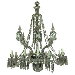Fine 19th Century F & C Osler Cut-Glass Chandelier