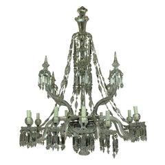 Fine 19th Century F & C Osler Cut-Glass Chandelier