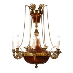 Fine 19th Century French Empire Gilt Bronze Chandelier