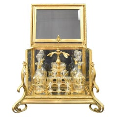 Fine 19th Century French Gilt Bronze and Cut Crystal Tantalus