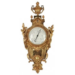 Fine 19th Century French Gilt Bronze Barometer