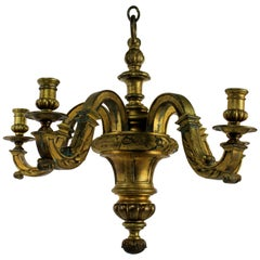 Fine 19th Century French Gilt Bronze Chandelier