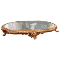 Fine 19th Century French Louis XV Gilt Bronze and Mirrored Plateau