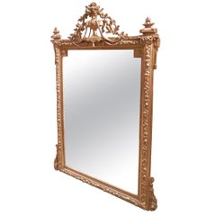 Fine 19th Century French Louis XVI Carved and Gilt Mirror